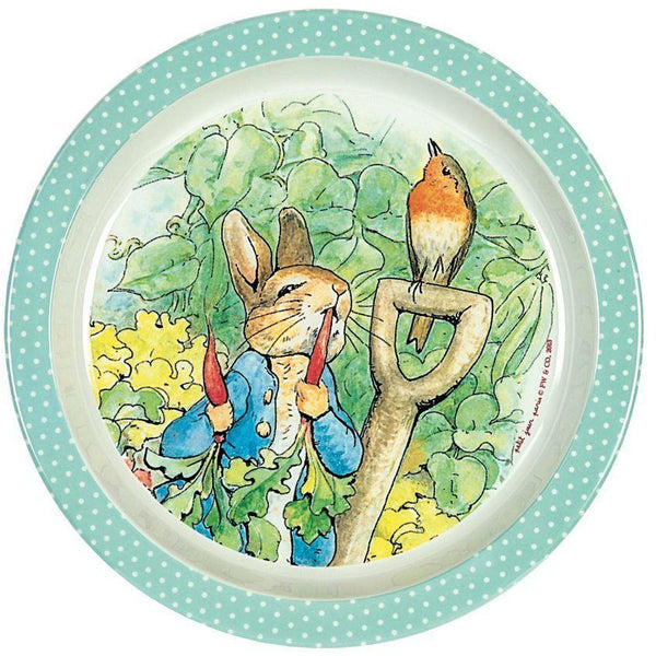 Petit Jour Paris Peter Rabbit Baby Plate Green - toybox.ae