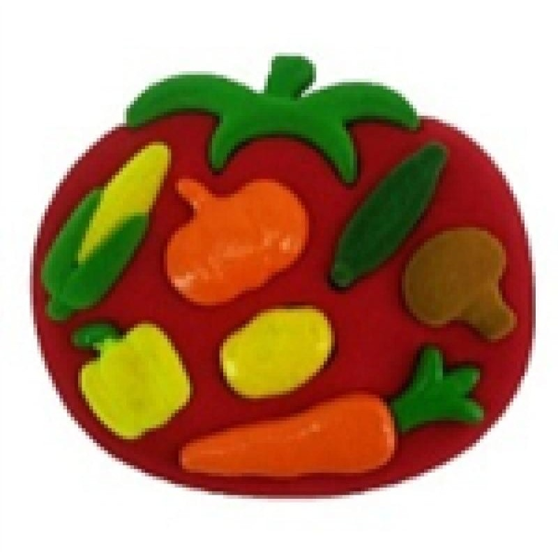 3D Shape Sorter Vegetables - toybox.ae