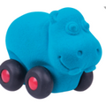 Aniwheelies Hippo Light Blue - Small - toybox.ae