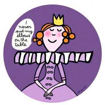 "Petit Jour Paris Plate Princess ""I never put my elbows on the table"" - toybox.ae"
