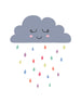 Sleepy Rain Cloud Wall Art Print - toybox.ae