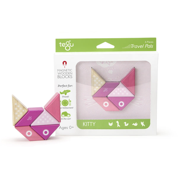 Tegu Travel Pal Kitty (6 Piece) - toybox.ae