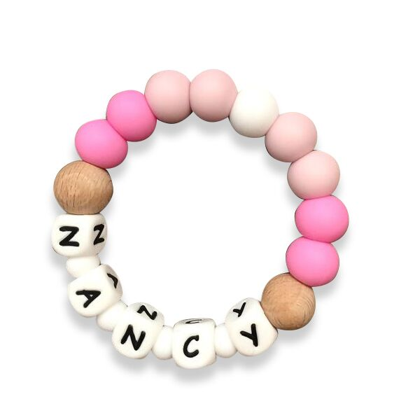 Desert Chomps Personalized Teether - Solo - Desert Rose