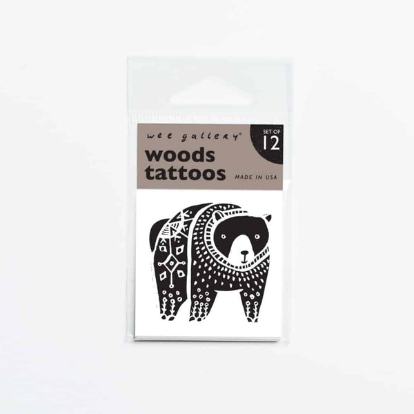 Wee Gallery Woods Temporary Tattoos - toybox.ae