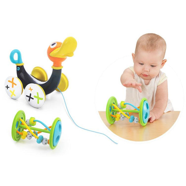 Yookidoo Whistling Pull Along Duck - toybox.ae