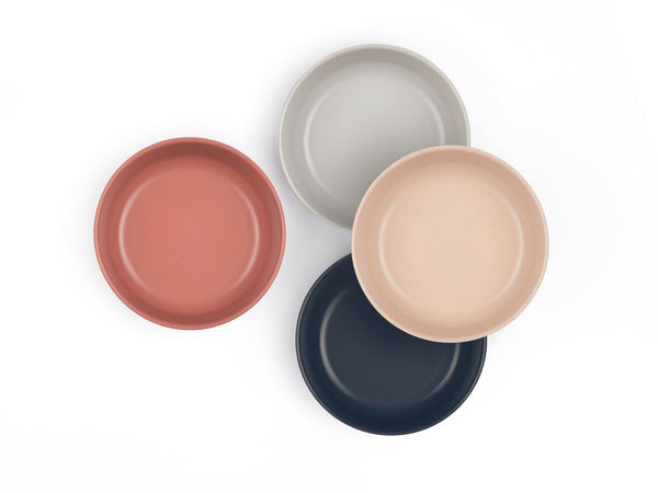 Ekobo Bambino Bowl Set SCANDI - Blush, Cloud, Storm, Terracotta