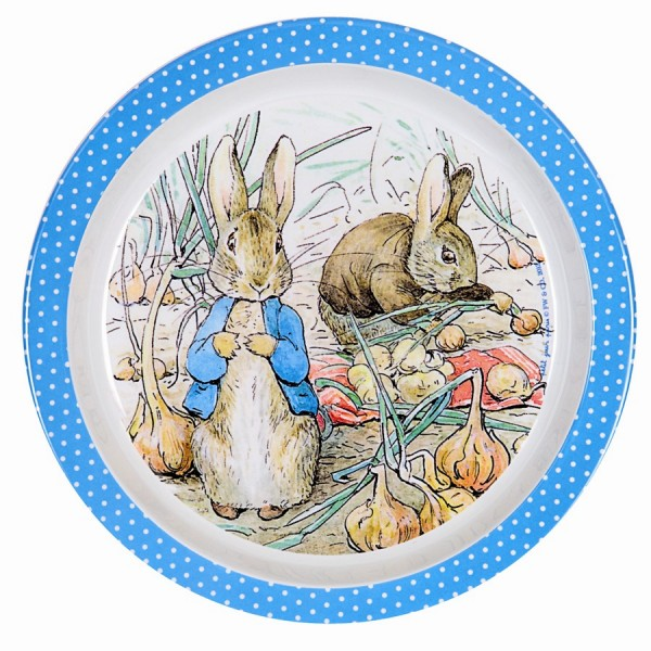 Petit Jour Paris Peter Rabbit Baby Plate Blue - toybox.ae