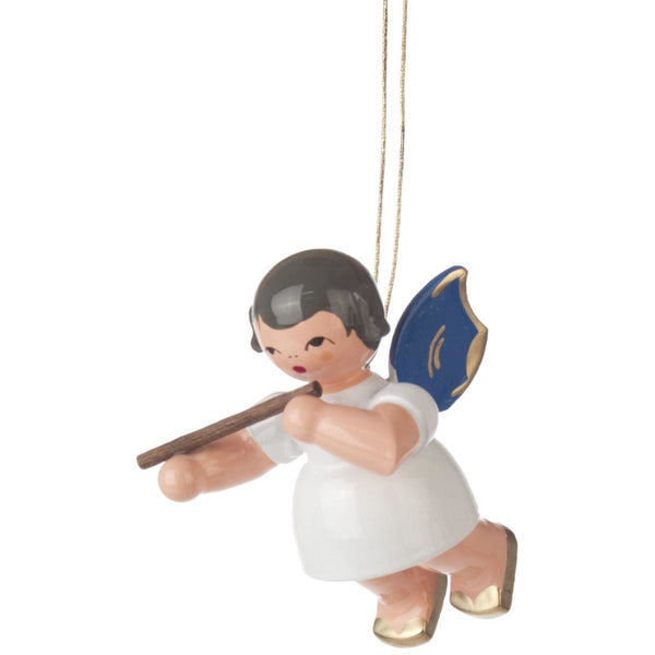 Ornament Angel with a Flute, Blue Wings - toybox.ae