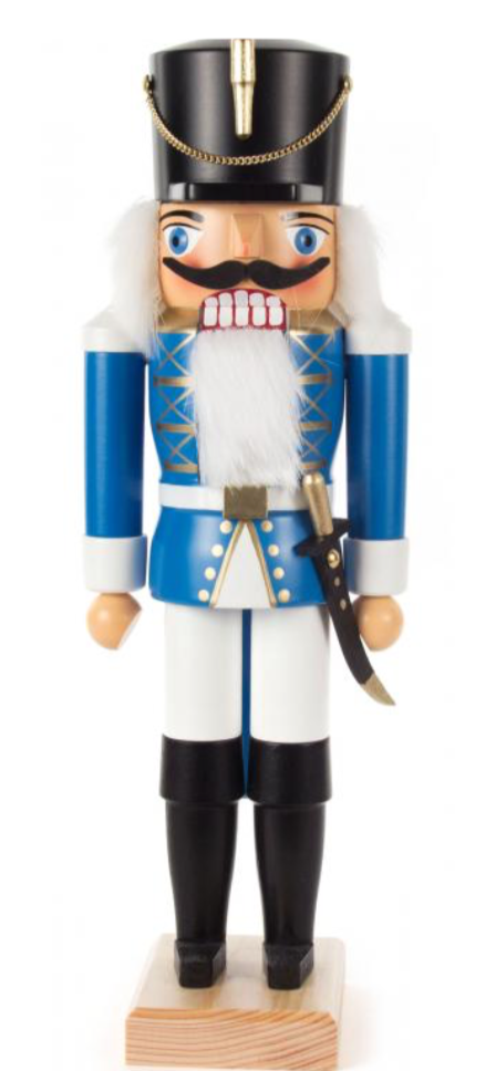 Nutcracker soldier blue 34 cm - toybox.ae
