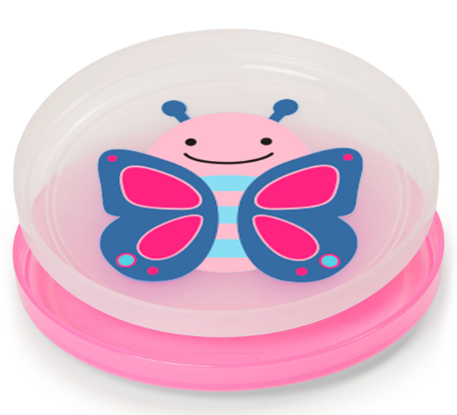 Zoo Smart Serve Non-Slip Plates Butterfly