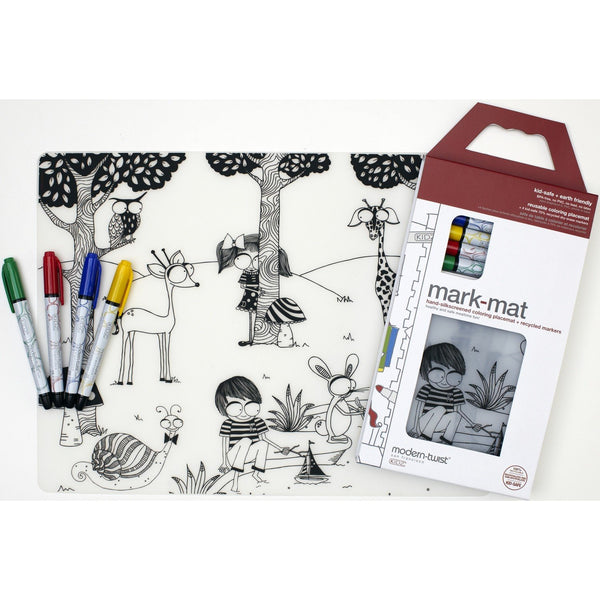 Modern Twist Mark Mat Day at the Pond incl. 4 Markers - toybox.ae