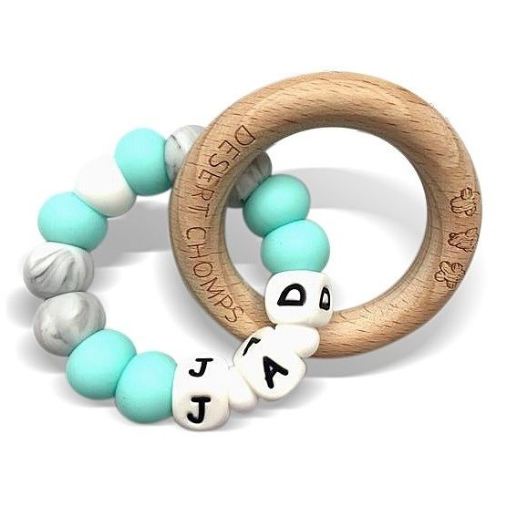 Desert Chomps Personalized Teether - Lasso - Mint