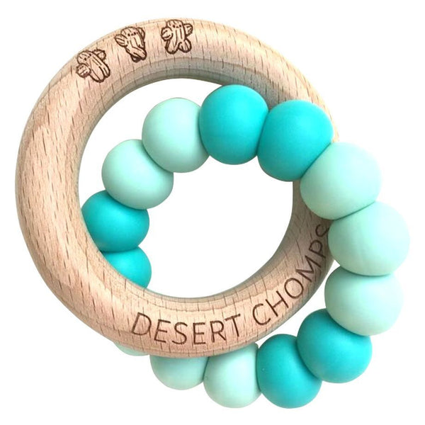 Desert Chomps Lasso Classic Teether - Mint - toybox.ae
