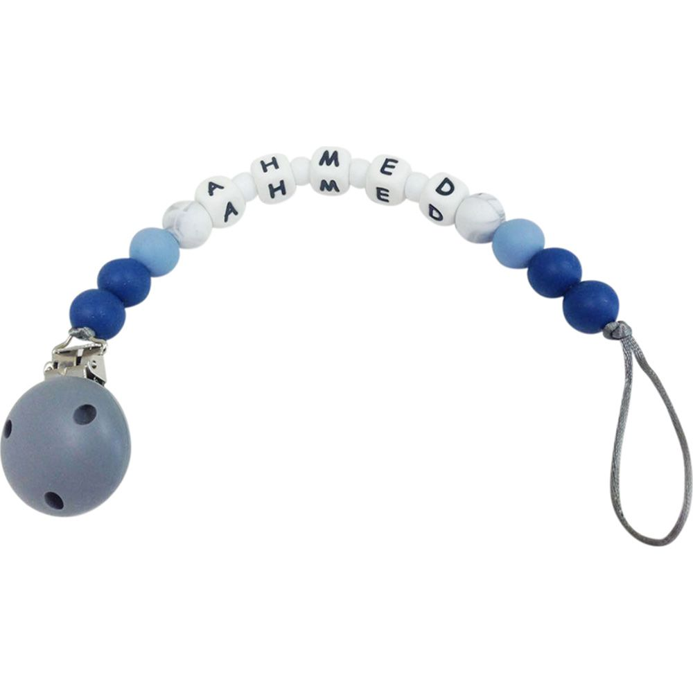 Desert Chomps Personalized Pacifier Clip - Midnight Blue - toybox.ae