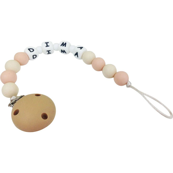 Desert Chomps Personalized Pacifier Clip - Peaches & Cream - toybox.ae