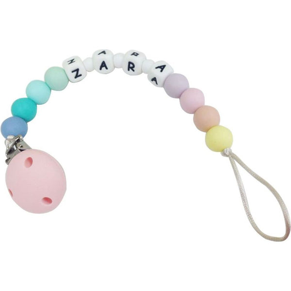 Desert Chomps Personalized Pacifier Clip - Rainbow - toybox.ae