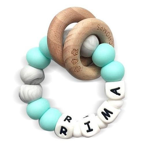 Desert Chomps Personalized Teether - Ringlet - Mint