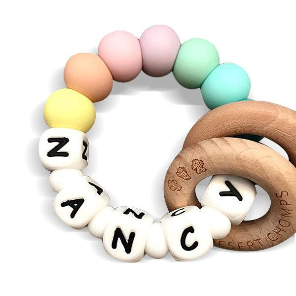 Desert Chomps Personalized Teether - Ringlet - Rainbow