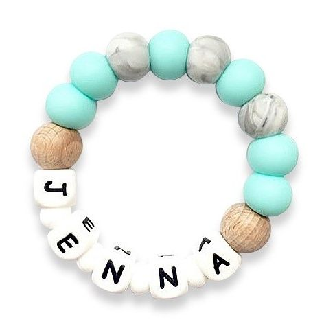 Desert Chomps Personalized Teether - Solo - Mint