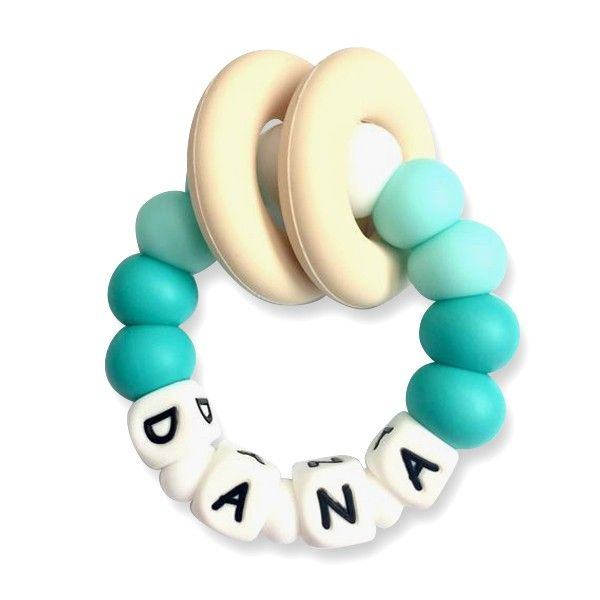 Desert Chomps Personalized Teether - Vera - Aqua