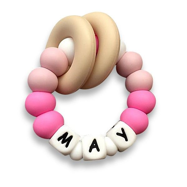 Desert Chomps Personalized Teether - Vera - Desert Rose