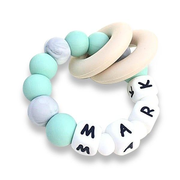 Desert Chomps Personalized Teether - Vera - Mint