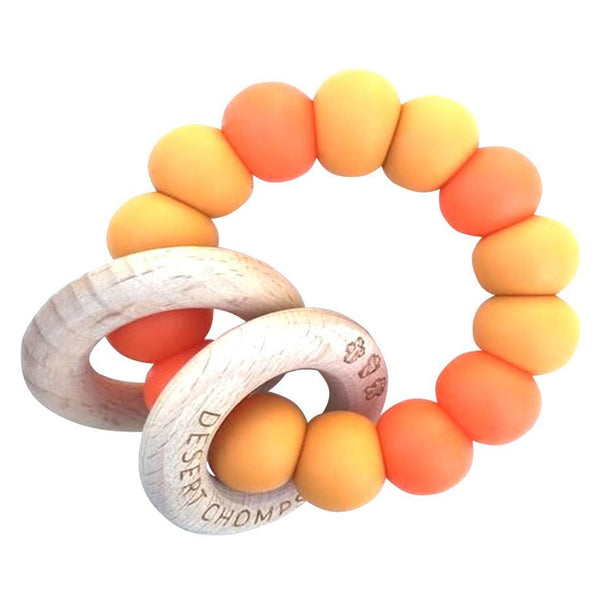 Desert Chomps Ringlet Classic Teether - Mango Passion - toybox.ae