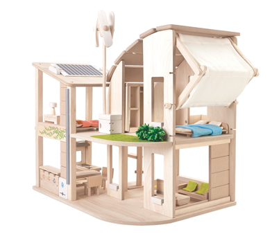 GREEN DOLLHOUSE WITH FURNITURE - toybox.ae