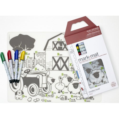 Modern Twist Mark Mat  Farm Buddies incl.  4 Markers - toybox.ae