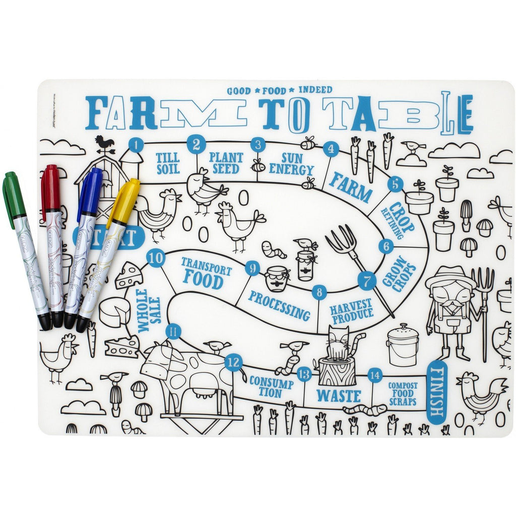 Modern - Twist Mark Mat Farm to Table incl. 4 Markers - toybox.ae