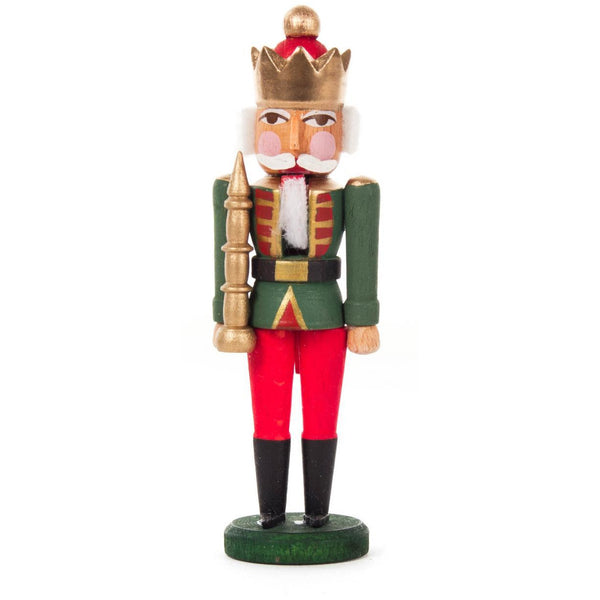 Mini Nutcracker King Green Red 8cm - toybox.ae