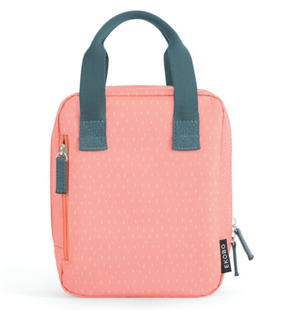 Ekobo Go Isothermic RePet Lunch Bag Dashes Series Coral