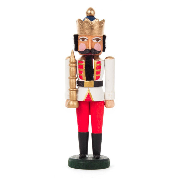 Mini Nutcracker King White Red - toybox.ae