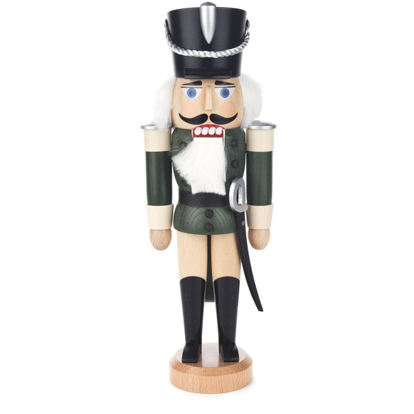 Nutcracker Husar Green-Nature 28cm - toybox.ae