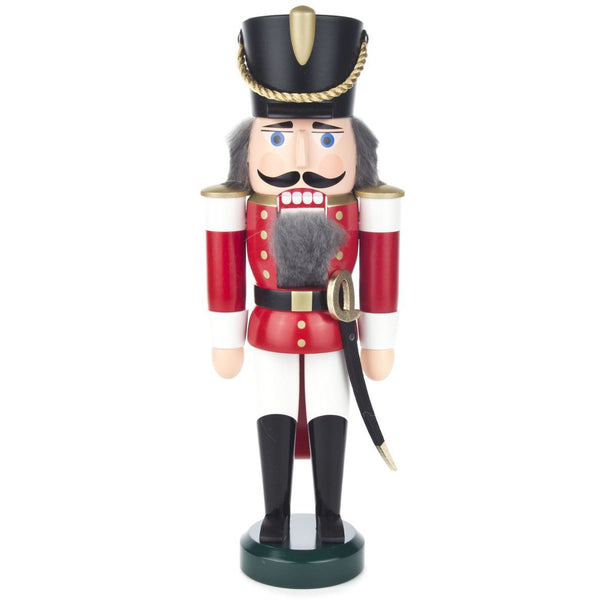 Nutcracker Husar Red-White, 28cm - toybox.ae