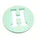 One.Chew.Three - Alphabet Chews Silicone Letter Teething Disc - H - Mint - toybox.ae