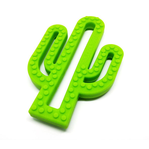 One.Chew.Three - Cactus Teether - Green