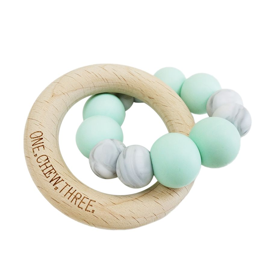 One.Chew.Three - Duo Teether - Mint Marble