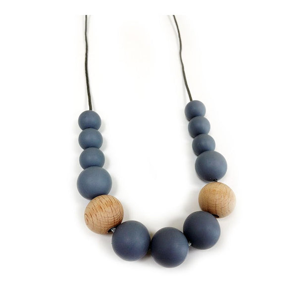 One.Chew.Three - Evie Necklace - Dark Grey