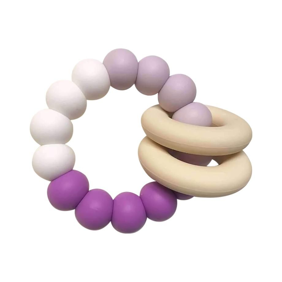 One.Chew.Three - Gummi Silicone Teether - Purple Ombre - toybox.ae