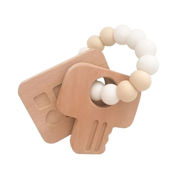 One.Chew.Three - Keys Teether - White