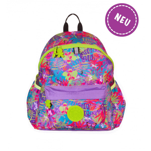 Okiedog Wild Pack Jungle Fever Backpack - (L) Orchid - toybox.ae