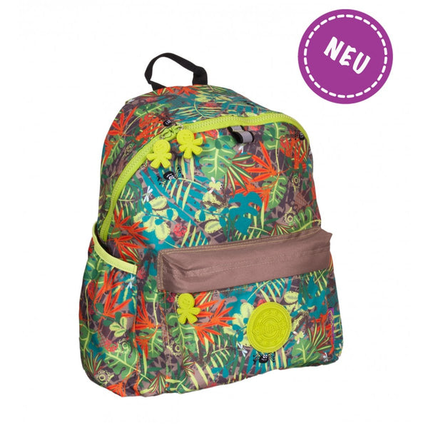 Okiedog Wild Pack Jungle Fever Backpack - (L) Safari - toybox.ae