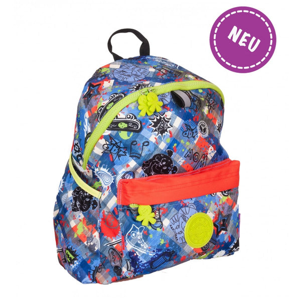 Okiedog Wild Pack Graffiti Backpack - (L) Jeans - toybox.ae