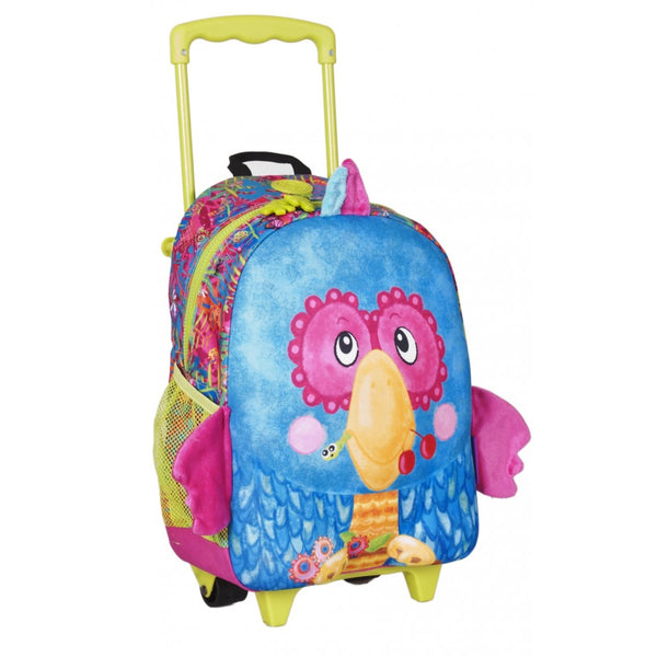 Okiedog Junior Rolling Luggage M Parrot - toybox.ae