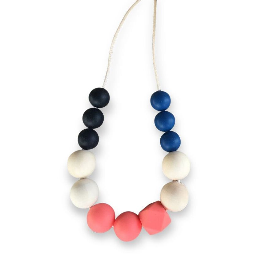 One.Chew.Three - Mia Necklace - Coral - toybox.ae