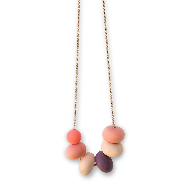One.Chew.Three - Olivia Necklace - Coral - toybox.ae