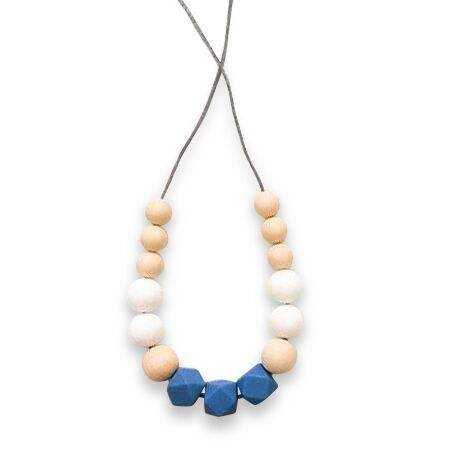 One.Chew.Three - Poppy Necklace - Blue