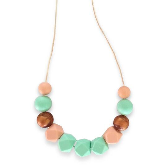 One.Chew.Three - Ruby Necklace - Mint