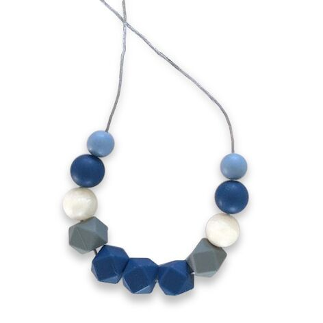 One.Chew.Three - Ruby Necklace - Navy